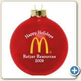 Custom Logo ornament glass